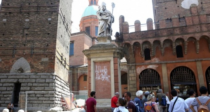 "Muslim Smashes Up Christian Church, Defaces Italian Saint with ""Allahu Akbar"""