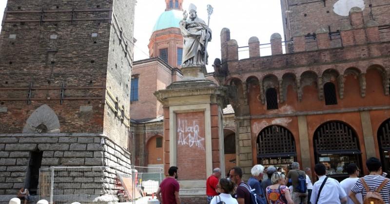 "Muslim Smashes Up Christian Church, Defaces Italian Saint with ""Allahu Akbar"""