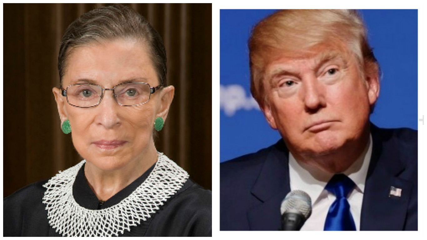 Justice Ginsburg trump