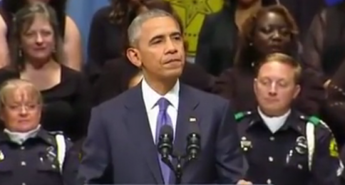 """Barack Obama to Police: """"I'm your best hope"""" to Fix Race Relations"""