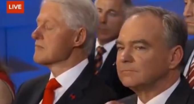 Bill Falls Asleep During Hillary's Convention Speech