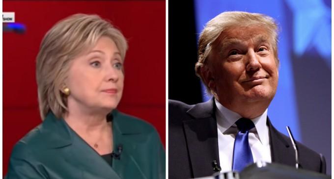 Trump Poll's Ahead of Hillary