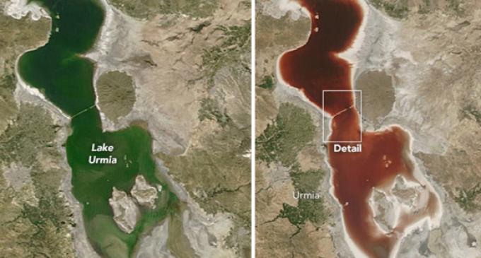 Iran's Lake Urmia Turns Blood-red