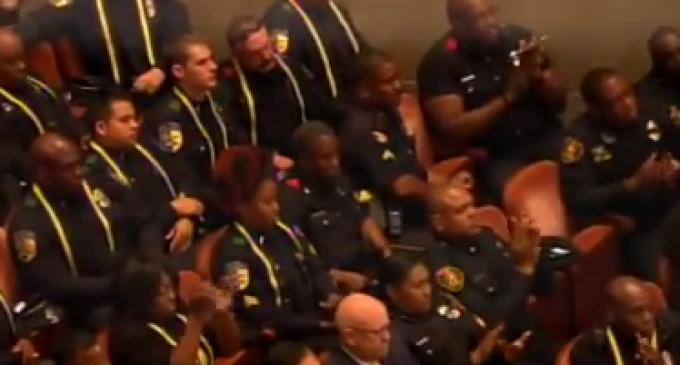 Cops Shun Obama During Dallas Police Memorial Service