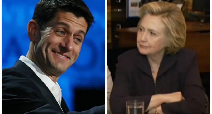 Paul Ryan Plays Bugle to Hillary's Attacks on Trump