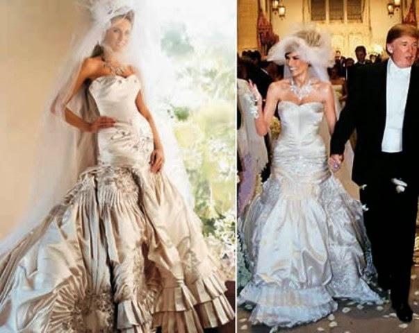 Melania facts and photos for Melania trump wedding dress