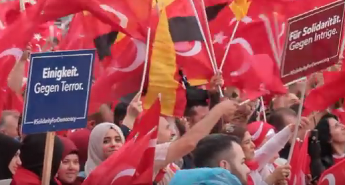 50,000 Muslim Supporters Storm German Streets in Support of Turkey's Islamist President