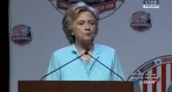 Video: Hillary Calls Donald T. 'My Husband' During Campaign Stop