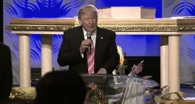 """Trump's Speech at Black Church Inspires a Standing Ovation, """"I believe we need a civil rights agenda for our time"""""""