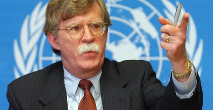** FILE** Undersecretary of State John Bolton speaks during a news conference at the United Nations in Geneva, Switzerland, in this Jan. 24, 2002 file photo.  Although presidential nominees are usually approved there have been exceptions and the latest fury surrounding Bolton, picked by President Bush as the next U.S. Ambassador to the United Nations, has people wondering if he may be one of those exceptions.  (AP Photo/Keystone, Laurent Gillieron, File) ** SWITZERLAND OUT **