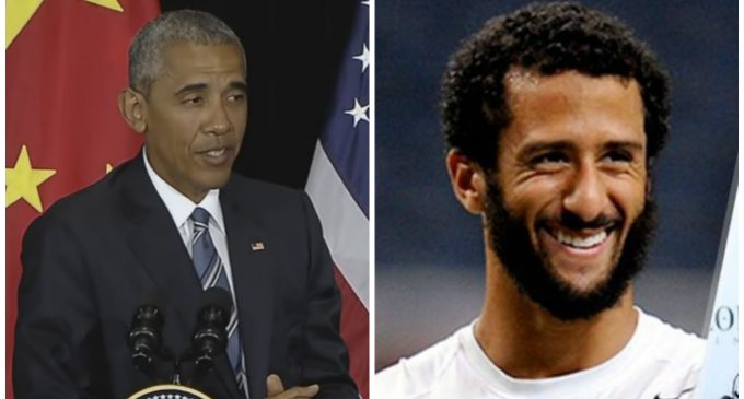 Obama Praises Kaepernick's Protest, He's Being 'Sincere' with 'Real Legitimate Issues'