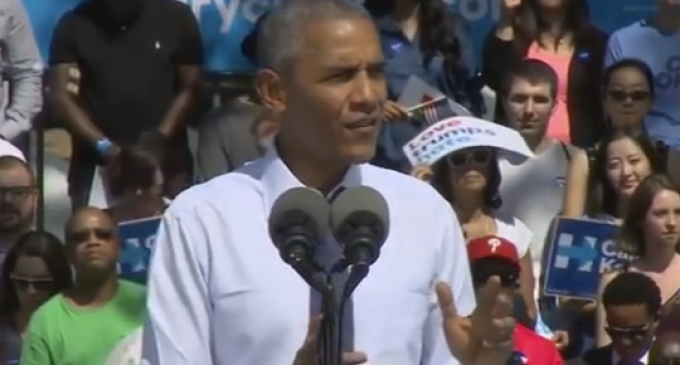 Obama Gives Speech for Hillary, Ends Up Talking About Himself 137 Times