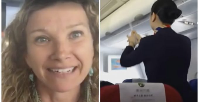 woman removed airplane spraying