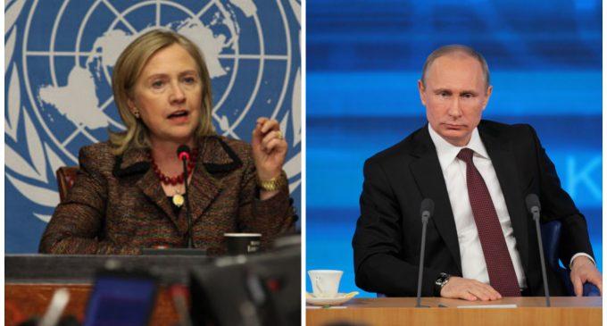"""Putin: """"If It's Hillary Clinton, It's War"""""""