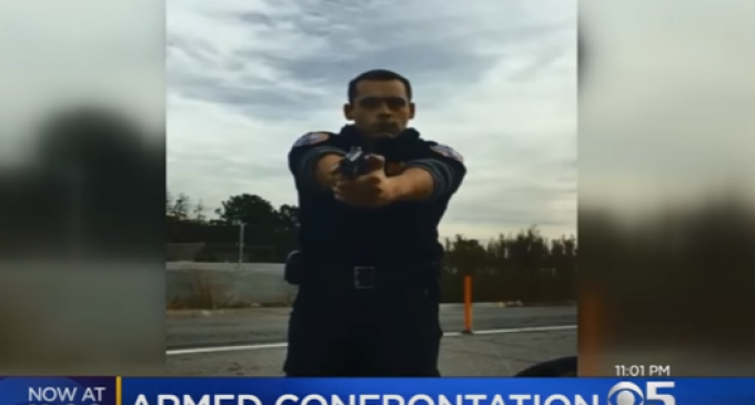 Security Guard Pulls Gun on Driver for Running Over Cone