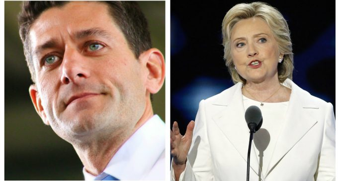 Paul Ryan Betrays Conservatives, Supports Hillary's Campaign and Her Policies