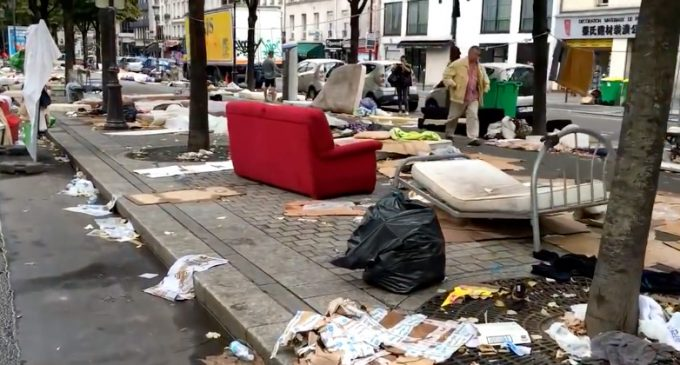 Migrant Turf Wars Turn Paris into Wasteland