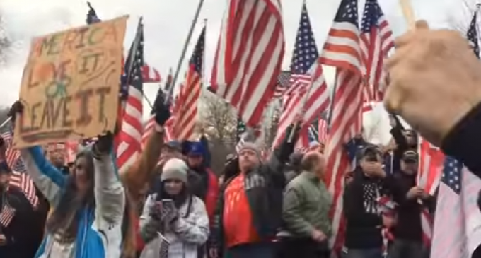 Hundreds Protest After College Removes American Flag From Campus