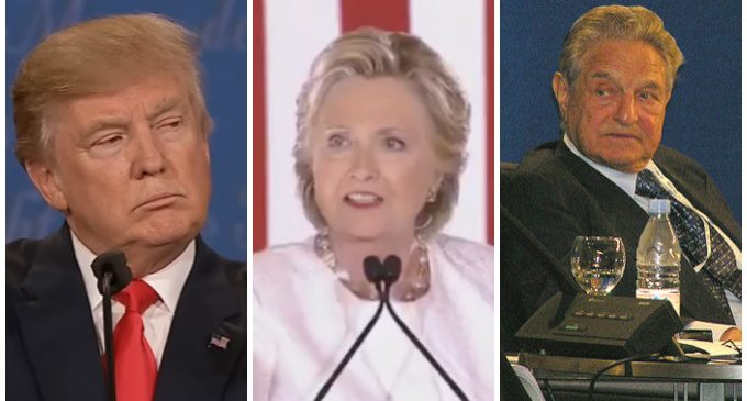 """Clinton and Soros Respond to Trump Victory with """"Purple Revolution"""""""