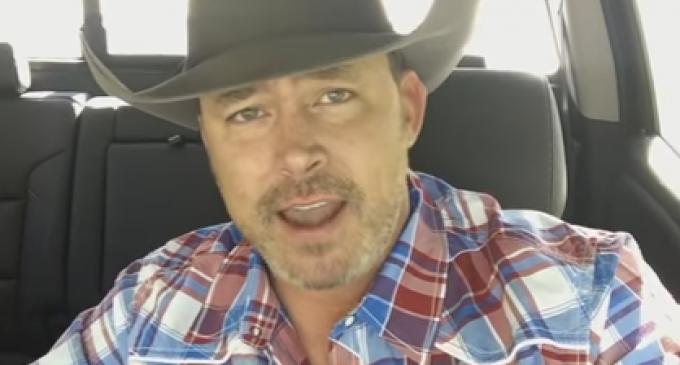 Youtube Cowboy Goes Viral After Taking Down Anti-Trump Protestors