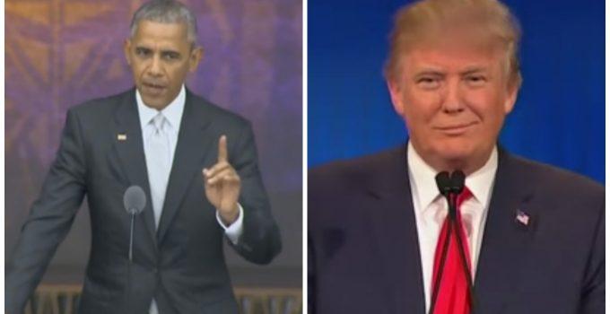 trump obama fight