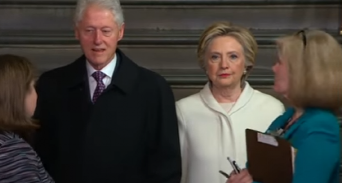 Hillary Clearly Miserable at Trump Inauguration, Crowd Boos and Chants 'Lock Her Up'