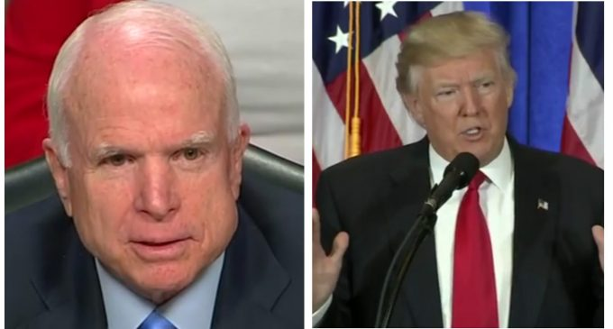 McCain Vows to Fight Trump's 'Reckless' Attempts to Improve Relations with Russia