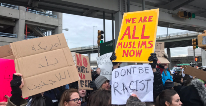 muslim refugee protest ban airport