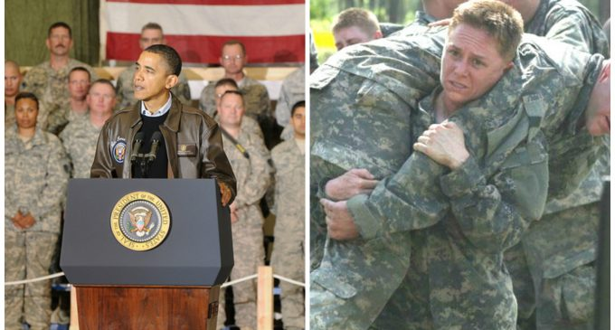 Obama: Women in the Military are 'at Least as Strong as Men'