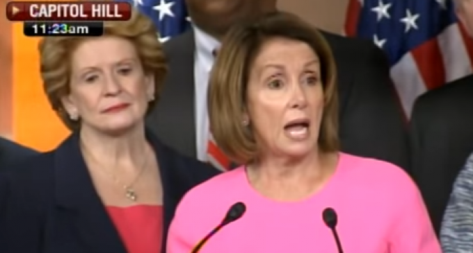 Nancy Pelosi Loses It, Barely Manages to Make Sentences as She Defends Obamacare