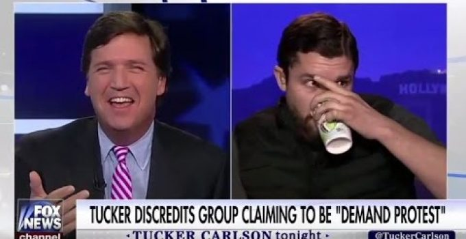 "Tucker Carlson Exposes ""Demand Protest"" Leader on Fox News"