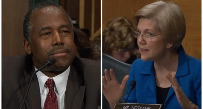 Warren Asks Carson if He Will Funnel HUD Money Into Trump's 'Hidden Business Interests'