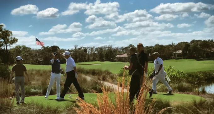 Trump Sticks Press in Basement With Blacked-Out Windows While He Golfs