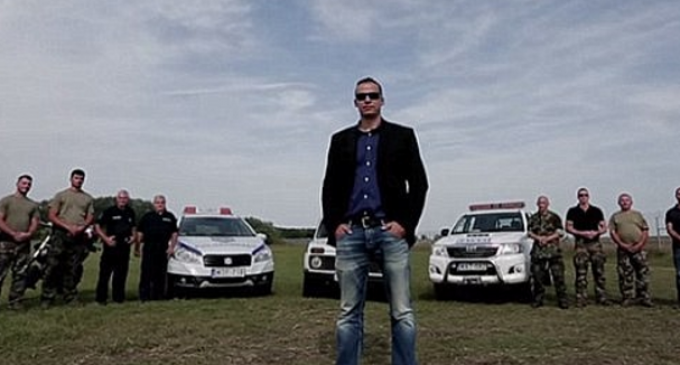 Hungarian Bounty Hunters Threaten Migrants with Homemade Action Movie