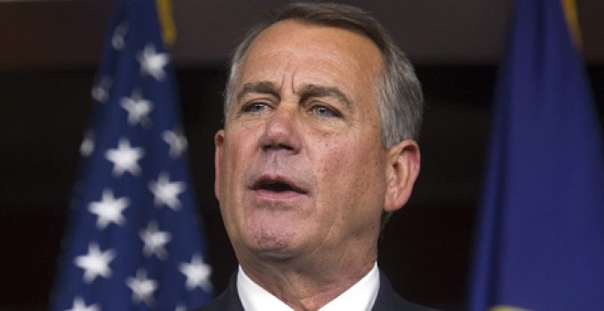 "John Boehner: Obamacare Repeal ""Not Going to Happen"""