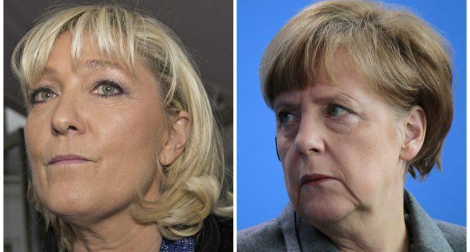 Marine Le Pen: 'I will not submit!' to Angela Merkel, EU