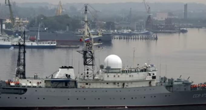Russia Sails Spy Ship Near US East Coast, Figher Planes Buzz US Destroyer in Black Sea