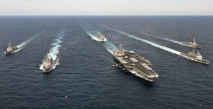 ships maneuver atlantic ocean