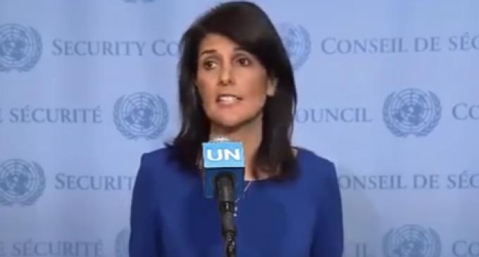 "UN Ambassador Haley Tears Into United Nations for ""Strange"" Anti-Israel Criticism"