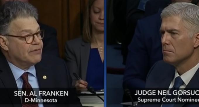 Senator Franken's Attempt to Connect Judge Gorsuch to Steve Bannon Fails Miserably