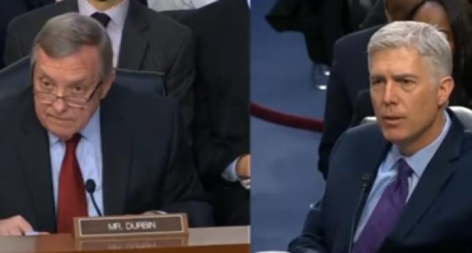 Gorsuch Decimates Senator Dick Durbin During Confirmation Hearing