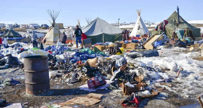 U.S. Army Corps of Engineers Haul Away 835 Dumpsters of Trash from Standing Rock Protest