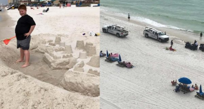 Youth Minister Cited, Threatened with Arrest for Building an Illegal Sand Castle