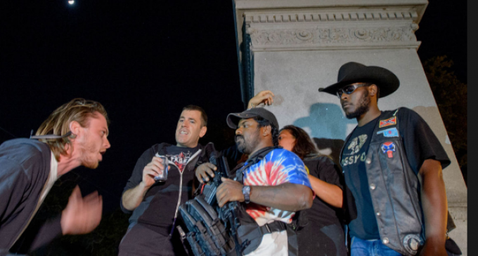 Armed Black Patriot Defends Confederate Monument During New Orleans Protest