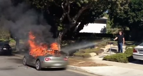 Parked Cars Catching On Fire