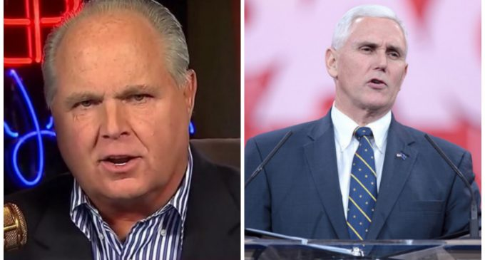 Limbaugh to Pence: 'Whats the Point of Voting Republican' If Liberal Policies Continue to Win?