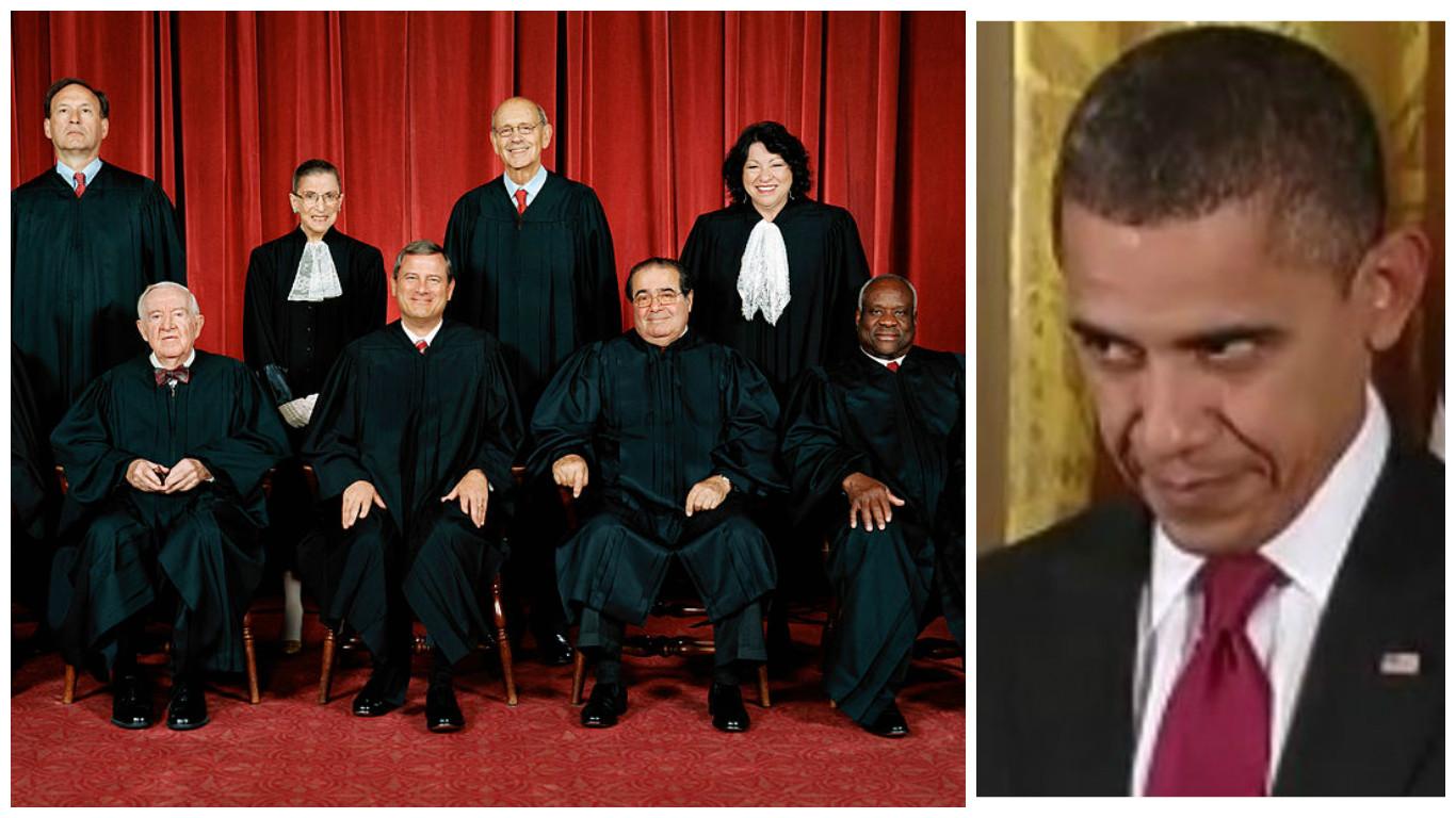 report obama kept supreme court under surveillance truth and action. Black Bedroom Furniture Sets. Home Design Ideas