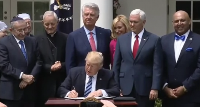 Trump Signs Religious Liberty Executive Order
