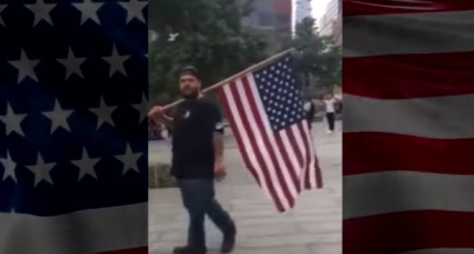 Tourists Ushered Away From 9/11 Memorial for Carrying American Flag