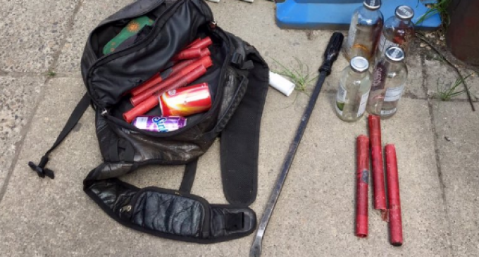 Portland Police Confiscate Weapons, Dynamite from Antifa Protesters